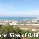 נוף מרהיב של מפרץ חיפה